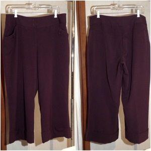 Women's Size 16 Lane Bryant Cropped Dress Pants